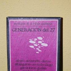 Libros de segunda mano: ANTOLOGÍA DE LA POESÍA HISPÁNICA - GENERACIÓN DEL 27 - LIBRETO Y DOS CASETES. Lote 33933057