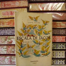 Libros de segunda mano: ESCALA DE JACOB. POEMES . AUTOR : VALERI, LLUIS. Lote 34181446