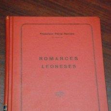 Libros de segunda mano: RETABLO LEONES, ROMANCES. FRANCISCO PEREZ HERRERO. 1940. Lote 34938267
