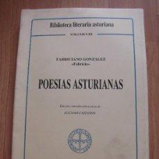 Libros de segunda mano: POESIAS ASTURIANAS FABRICIANO GONZALEZ FABRICIO EDICION DE LUCIANO CASTAÑON OVIEDO 1987. Lote 34981568