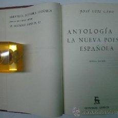Libros de segunda mano: ANTOLOGIA DE LA NUEVA POESIA ESPAÑOLA. J.L. CANO. EDITORIAL GREDOS 1978.. Lote 35847384