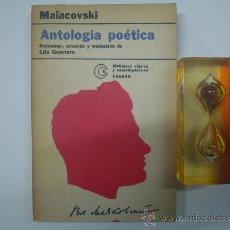 Libros de segunda mano: MAIACOVSKI. ANTOLOGIA POETICA. EDITORIAL LOSADA 1978. BUENOS AIRES.. Lote 37621569