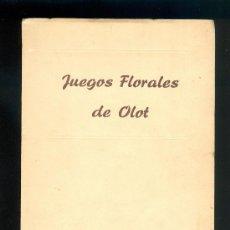 Libros de segunda mano: NUMULITE L0247 JUEGOS FLORALES DE OLOT 11 DE SEPTIEMBRE DE 1949 POESIA POEMA EDITA P AUBERT ARMENGOL. Lote 37853643