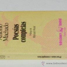Libros de segunda mano: ANTONIO MACHADO: POESÍAS COMPLETAS. Lote 38062326