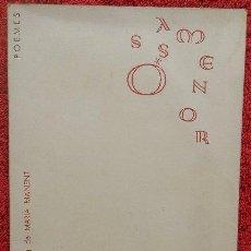 Libros de segunda mano: COM EL MAR - LLUÍS SERRAHIMA (ÓSSA MENOR, 1963, 1ª EDICIÓN. FIRMADO POR EL AUTOR). Lote 38701175