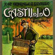 Libros de segunda mano: JOSÉ GONZÁLEZ Y CÁTULO CASTILLO : CANCIONERO (LA MUSA MALEVA, TORRES AGÜERO, 1977). Lote 38934196
