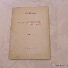 Libros de segunda mano: CINCO CANCIONES DE CUNA. (AUTOR: JOSÉ AGUILAR) . Lote 39391272