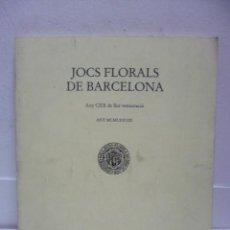 Libros de segunda mano: JOCS FLORALS DE BARCELONA (1987) EN CATALÁN. Lote 39669821