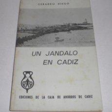 Libros de segunda mano: UN JANDALO EN CADIZ. GERARDO DIEGO. CADIZ - 1974. Lote 40035560