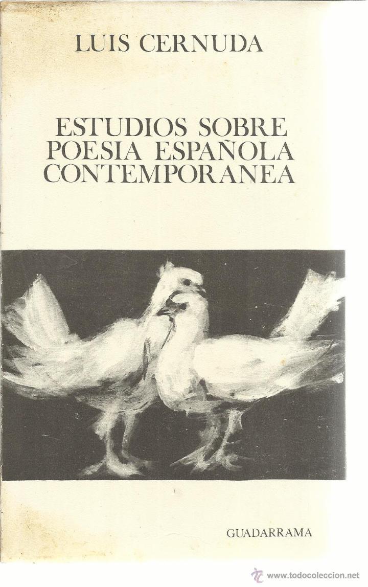 estudios sobre la poesia española contemporánea - Comprar Libros de ...
