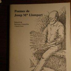 Libros de segunda mano: POEMES DE JOSEP MARIA LLOMPART. SUPLEMENT DE PISSARRA, 1979. Lote 40322753