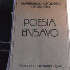Libros de segunda mano - POESÍA-ENSAYO. CONCURSO LITERARIO 80-81. UAM - 40624595