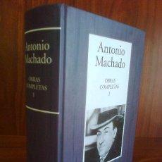 Libros de segunda mano: ANTONIO MACHADO - OBRAS COMPLETAS I (POESÍA COMPLETA 1899-1939) RBA / INSTITUTO CERVANTES 2005. Lote 261105465