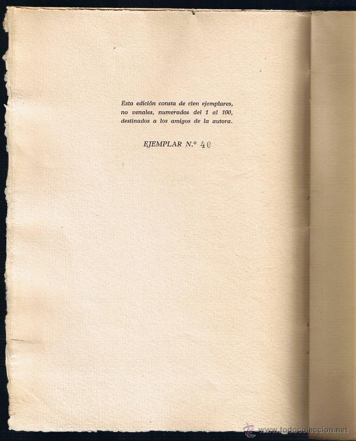 Libros de segunda mano: POESIA - MARY ROWE - 1950 - EJEMPLAR Nº 40 DE 100 - Foto 2 - 40847208