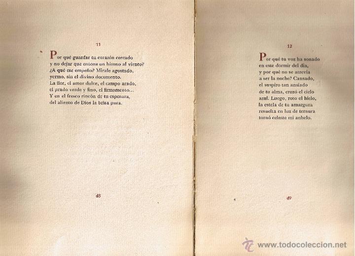 Libros de segunda mano: POESIA - MARY ROWE - 1950 - EJEMPLAR Nº 40 DE 100 - Foto 3 - 40847208