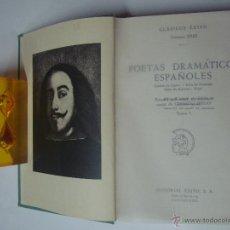 Libros de segunda mano: POETAS DRAMATICOS ESPAÑOLES. ESTUDIO DE GERARDO DIEGO. ED. EXITO 1962.OBRA EN 2 T. Lote 41264327