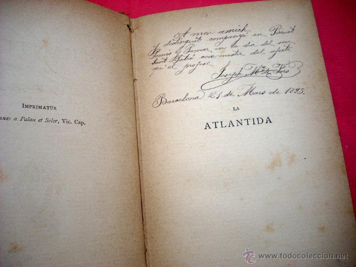 Libros de segunda mano: LA ATLANTIDA - 1886 - 1ª EDICIÓN EN CATALÁN Y CASTELLANO - Foto 2 - 41306944