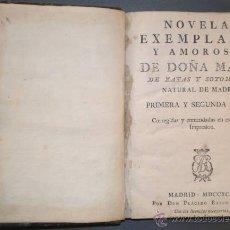 Libros de segunda mano: ZAYAS Y SOTOMAYOR, MARÍA: NOVELAS EXEMPLARES Y AMOROSAS. PRIMERA Y SEGUNDA PARTE. 1795. Lote 41431764