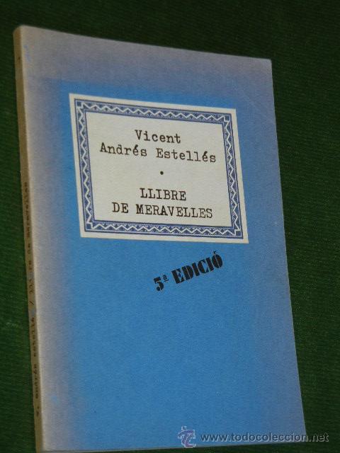 llibre de meravelles vicent andres estelles