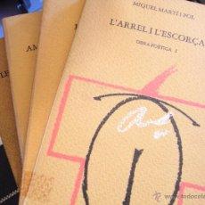 Libros de segunda mano: OBRA POÉTICA COMPLETA. MIQUEL MARTÍ I POL. (4 VOLS). Lote 41622792