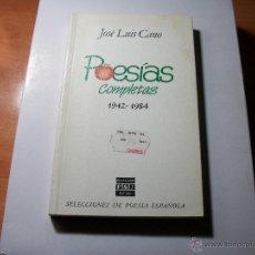 Libros de segunda mano: POESÍAS COMPLETAS. JOSÉ LUIS CANO.. Lote 41810458