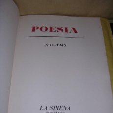 Libros de segunda mano: REVISTA COMPLETA - POESIA 1944-1945 Nº1 AL 20, EDC. DE 100 EJEP. PAPEL DE HILO ORIGINAL NO FACSIMIL. Lote 42138977