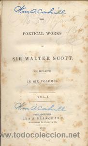Libros de segunda mano: WALTER SCOTT – THE POETICAL WORKS – 6 VOL- AÑO 1839 - Foto 2 - 42601792
