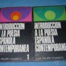 Libros de segunda mano: INTRODUCCION A LA POESIA ESPAÑOLA CONTEMPORANEA LUIS FELIPE VIVANCO. Lote 42624587