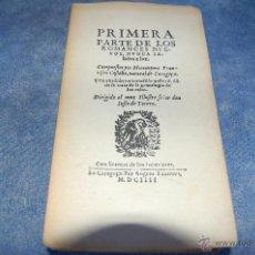 Libros de segunda mano: PRIMERA PARTE DE LOS ROMANCES NUEVOS, NUNCA SALIDOS A LA LUZ. Lote 42882574