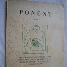 PONENT. Revista de literatura. Nº XVI. 1960