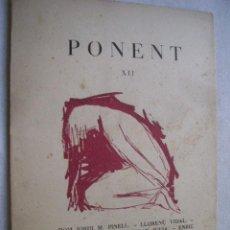 PONENT. Revista de literatura. Nº XII. 1959
