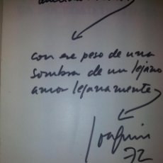 Libros de segunda mano: AUTOGRAFO Y DEDICATORIA DE JIMY GIMENEZ ARNAU. Lote 43220865