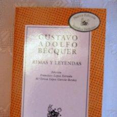 Libros de segunda mano: LEYENDAS, DE GUSTAVO ADOLFO BÉCQUER.. Lote 43370897