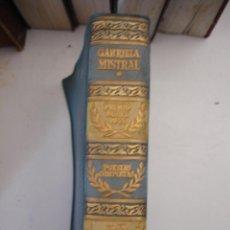Libros de segunda mano: POESIAS COMPLETAS, GABRIELA MISTRAL, AGUILAR, COLECCION PREMIOS NOBEL, 1958. Lote 43888767