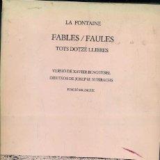 Libros de segunda mano: LA FONTAINE : FABLES / FAULES ILUSTRADO POR SUBIRACHS (DEL MALL, 1984) BILINGÜE CATALÁN FRANCÉS. Lote 43987163