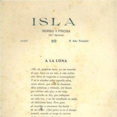 Libros de segunda mano: ISLA. VERSO Y PROSA. N. 10. Lote 44395639