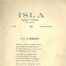 Libros de segunda mano: ISLA. VERSO Y PROSA. N. 12. Lote 44395672