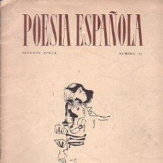 Libros de segunda mano: REVISTA POESIA ESPAÑOLA SEGUNDA EPOCA Nº 90 JUNIO 1960. Lote 44635593