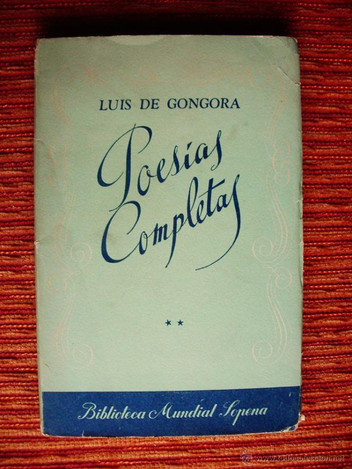 Libros de segunda mano: 1949-POESÍAS COMPLETAS-LUIS DE GÓNGORA-TOMO II-PRÓLOGO DE ALCALÁ-ZAMORA-EDITADO ARGENTINA-ORIGINAL - Foto 2 - 45336961