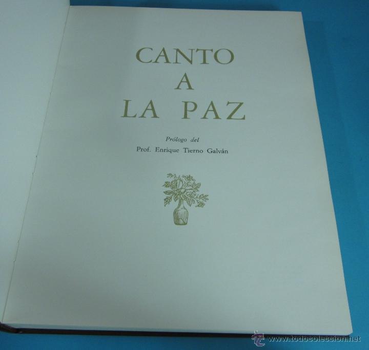 Libros de segunda mano: CANTO A LA PAZ. PRESTIGIOSOS AUTORES DE LAS LETRAS Y LAS ARTES DE HABLA HISPANA. - Foto 2 - 133306155