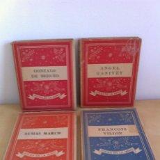 Libros de segunda mano: COLECCIÓN POESÍA EN LA MANO.ED.YUNQUE. FRANÇOIS VILLON.AUSIAS MARCH.ANGEL GAVINET.GONZALO DE BERCEO.. Lote 46427267