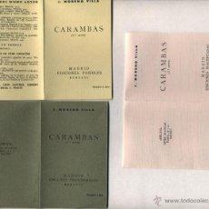 Libros de segunda mano: LAS CARAMBAS (MORENO VILLA). REEDICIÓN FACSIMIL Y PIRATA DE LA REALIZADA POR SÁNCHEZ CUESTA (MADRID). Lote 46992911