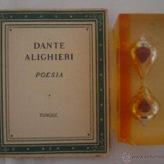 Libros de segunda mano: DANTE ALIGHIERI. POESIA. EDITORIAL YUNQUE 1939. . Lote 47741436