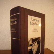 Libros de segunda mano: ANTONIO MACHADO: OBRAS COMPLETAS I: POESÍA. ED. DE ORESTE MACRÍ (RBA, 2005) COL. INSTITUTO CERVANTES. Lote 62171239
