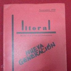 LITORAL, REVISTA DE LA POESIA Y EL PENSAMIENTO Nº 15 y 16 NOVIEMBRE 1970 - - BUEN ESTADO