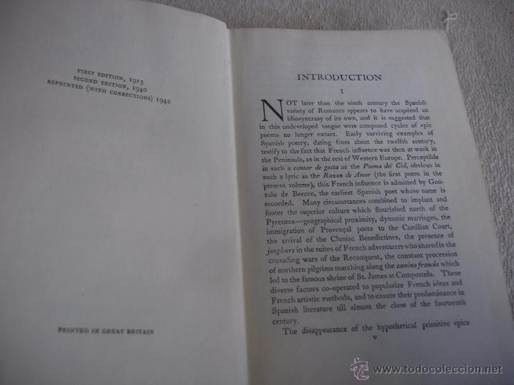 Libros de segunda mano: The Oxford Book of sapnish verse 1942 - Poesía, de la edad media al S. XX. en español - Foto 3 - 48654506
