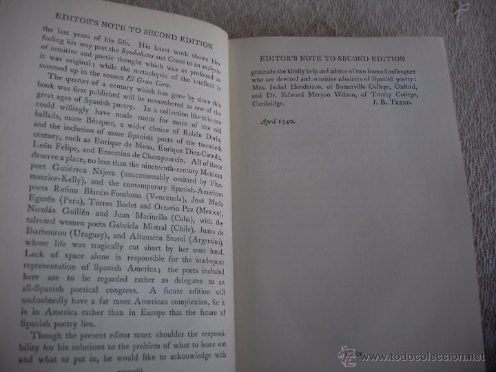 Libros de segunda mano: The Oxford Book of sapnish verse 1942 - Poesía, de la edad media al S. XX. en español - Foto 4 - 48654506