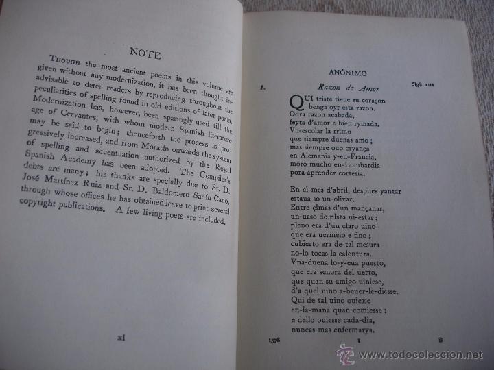 Libros de segunda mano: The Oxford Book of sapnish verse 1942 - Poesía, de la edad media al S. XX. en español - Foto 5 - 48654506