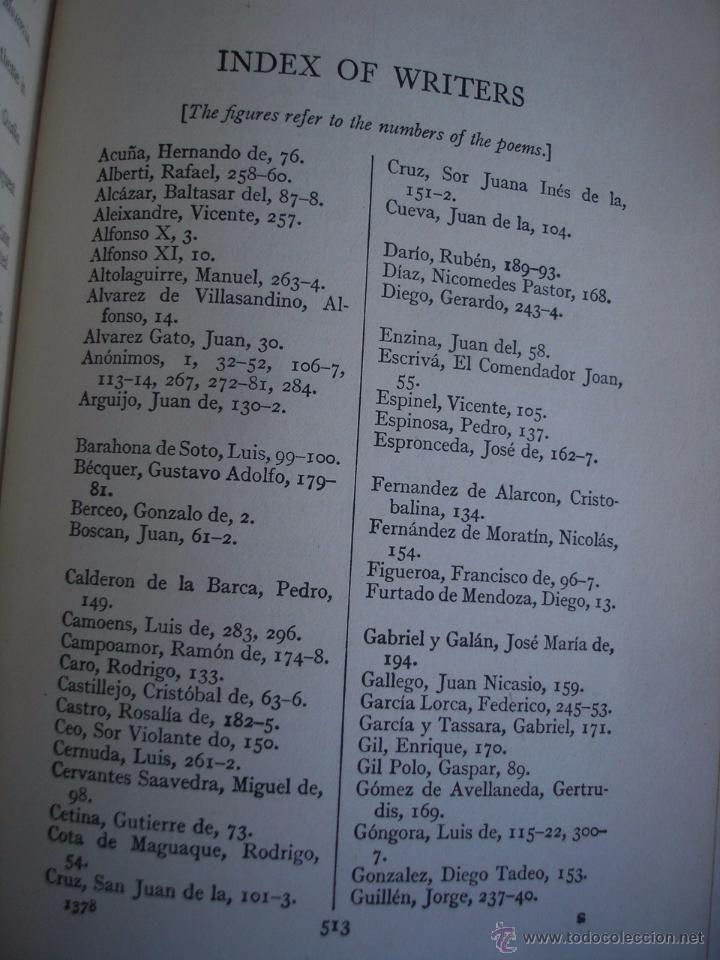Libros de segunda mano: The Oxford Book of sapnish verse 1942 - Poesía, de la edad media al S. XX. en español - Foto 14 - 48654506
