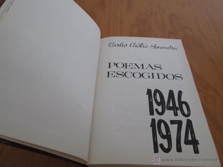 Libros de segunda mano: CARLOS CASTRO SAAVEDRA. POEMAS ESCOGIDOS 1946 - 1974. - Foto 5 - 48936325